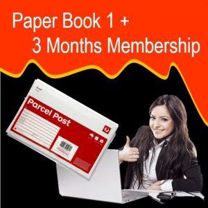 Paper Book 1 + 3 Months Membership